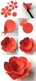 How To Create A Flower With Paper 310 Best How To Make Paper Flowers Images In 2019 Construction
