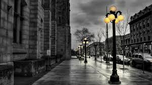 City Lights Wallpaper Black And White Download Wallpaper 1920x1080 Street City Evening Black