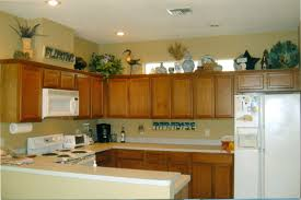 Over Cabinet Decor Interesting Top Of Kitchen Cabinet Decor Ideas Pictures Design