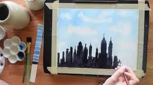 Paint The New York Skyline In Watercolor Beginners Tutorial