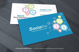 3 Social Media Business Cards Purchase Templates Design