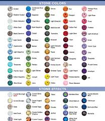 Amethyst Color Chart Y Jaiselle Shoes Crystal Colors Los Angeles
