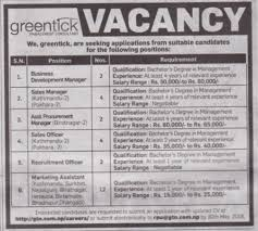 Business Development Manager Job Vacancy In Nepal - Greentick ...