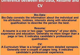 Difference Between Resume And Cv Difference Between Resume And ...