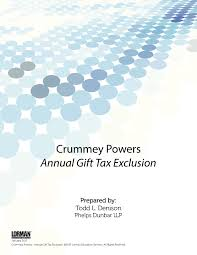 crummey powers annual gift tax exclusion