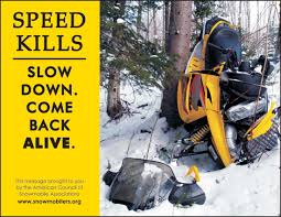 speed and careless operation safe riders snowmobile safety  snowmobile speeding endangers lives
