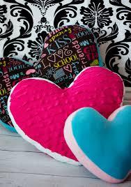 Pillow Sewing Patterns Extraordinary Heart Pillow Tutorial And Free Pattern Fleece Fun