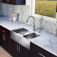 Apron Front Kitchen Sink White In One 36 Inch Farmhouse Stainless Steel Double Bowl Kitchen Sink