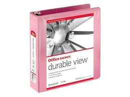 2in Binder Office Depot Nonstick Round Ring View Binder 2in Rings 100 Recycled Pink Od06618 Newegg Com