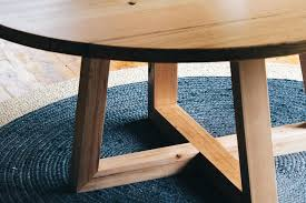 round timber dining tables and custom furniture handmade table diameter with cross legs brisbane