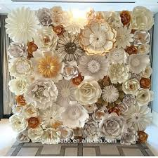 Paper Flower Wedding Backdrops Large Paper Flowers Backdrop Giant Paper Flowers Backdrop Paper Flower Wedding Decor Buy Paper Flowers Wedding Wall Decorations Wedding Stage
