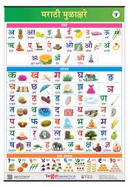 Buy Marathi Mulakshare Chart For Kids Marathi Alphabet And