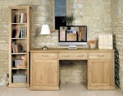 hidden office desk. baumhaus mobel oak large hidden office twin pedestal desk c