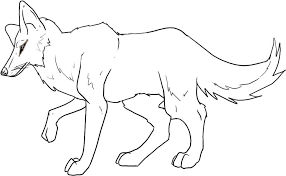 Small Picture Printable Coyote Coloring Pages For Kids