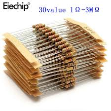 Best Offer #a1173d - <b>300pcs 30value</b> Rang <b>1ohm</b>-<b>3M</b> Ohm 1/2W ...