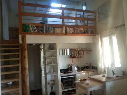 kitchen and mezzanine bedroom