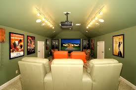 theater room lighting. bonus room lighting home theater eclectic with green paint vaulted ceiling p