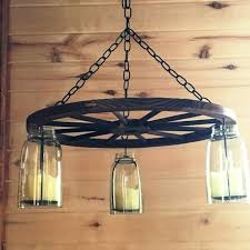 wagon wheel mason jar chandelier how to make