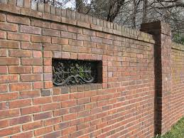 Small Picture Walls and Fences as a Design Element Brick fence Design
