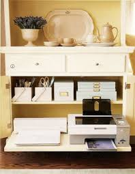 dining room and office. organized and beautiful office in a sideboard for small space solution martha stewart i love this cause donu0027t like seeing junk dining room