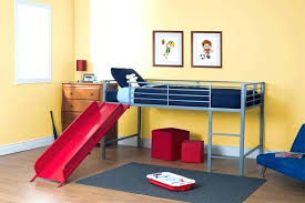 Bunk Bed With Slide And Tent Loft Bed With Slide And Tent Kid S Twin