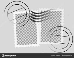 Stamps Template Postmarked Postage Stamps Template With Date Stamp Stock