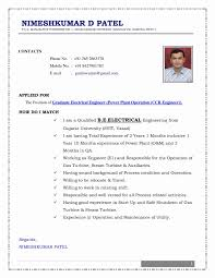 Electrical Engineer Resume Word Format Best Of Resume Format For