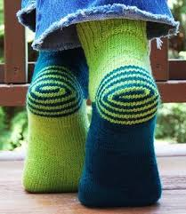 One of my current knitting projects. The heel was scary in the ...