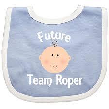 inktastic future team roper gift baby bib blue white