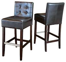 leather bar stools with back brown leather bar stools brown leather back stools set of 2
