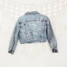 Designer Jean Jacket Photo Of Artistic Denim Jacket In 2019 Customised Denim