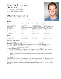 Actors Resume Amazing Professional Acting Resume Template Commily Com Simple Pdf Actors