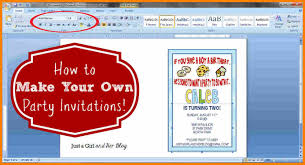 How To Create Invitations On Word 9 Create Invitation Cards Using Microsoft Word Grittrader