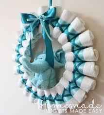 diy diaper blue wreath via homemade gifts made easy