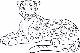 Small Picture Printable Jaguar to Color and Use for crafts Coloring Pages