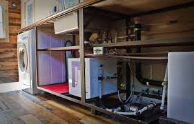 tiny house plumbing. Our Plumbing Underneath The Kitchen Counter. You Can Click To Zoom In. Visible Here: Washer/dryer Combo, Sink, Water Heater, Pump, Part Of Fresh Tiny House E