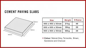 cement paving slabs