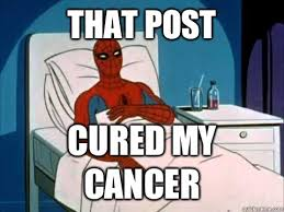 Cancer Spiderman memes | quickmeme via Relatably.com