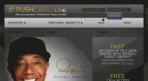 Access Rushcardlive Com Rushcard Live Prepaid Visa Debit Card