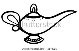 lamp clipart black and white. cartoon vector outline illustration genie lamp clipart black and white
