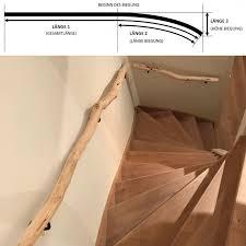 Die drei einzelteile jeweils zusammenbauen. Baumstamm Treppenhandlauf Mit Krummung Zweigedeko