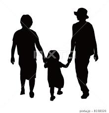 家族 シルエット 人物シルエット のイラスト素材 8158320 Pixta
