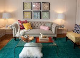 turquoise rug and red printed toss pillows for wonderful living room ideas