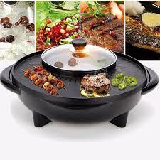 Bếp Lẩu Nướng Điện Đa Năng 2 Trong 1 (Lẩu , Nướng BBQ) - NLVQ-53-BDNHQ -  Nồi lẩu điện Thương hiệu No Brand