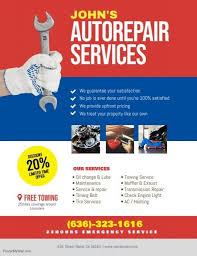 Auto Repair Flyer Auto Repair Service Flyer Poster Template Car Repair