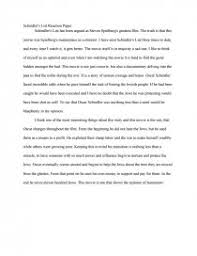 schindlers list reaction paper essays similar essays schindlers list
