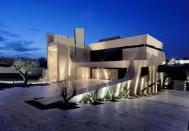 fantastic modern house lighting. fantastic view modern concrete house in madrid spain lighting x