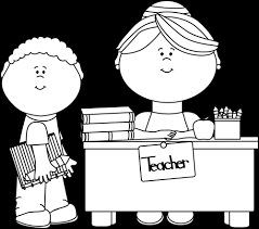student desk clipart black and white. black and white boy student at teacher\u0027s desk clipart