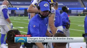 Chargers hire Rams DC Brandon Staley as ...