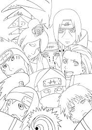 Naruto Coloring Sheets Coloring Page Team Pages Book Coloring Pages